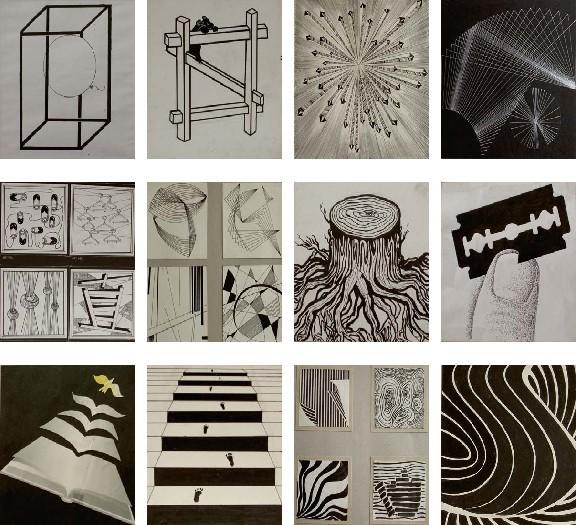 设计视觉传达黑白画